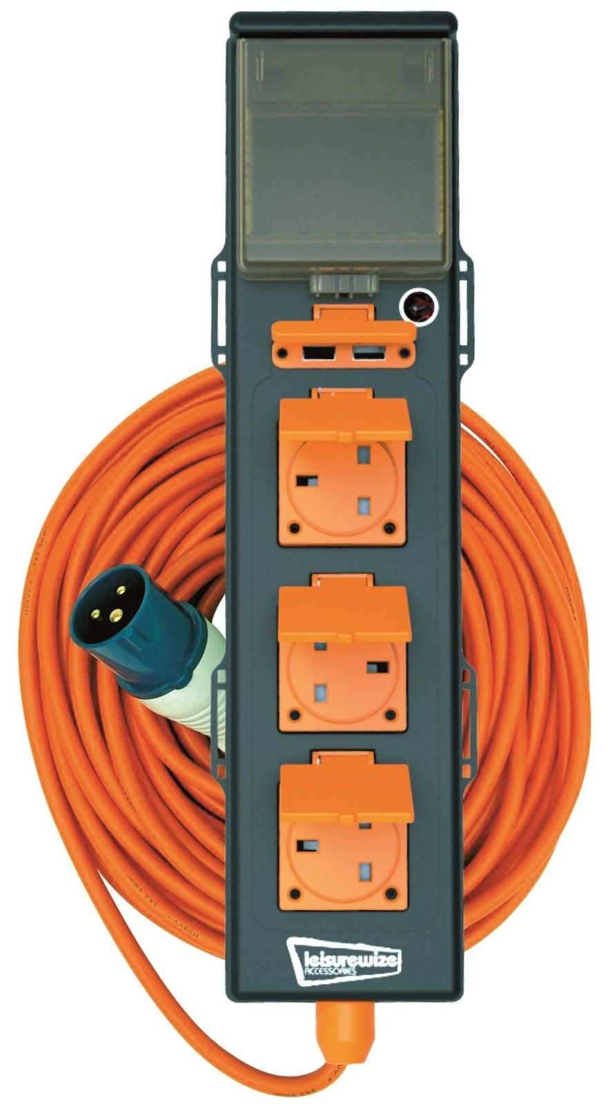 Leisurewize 5 Way 240v Mobile Mains Unit Rcd In 1 Hook Up Cable Motorhome Electric Wiring